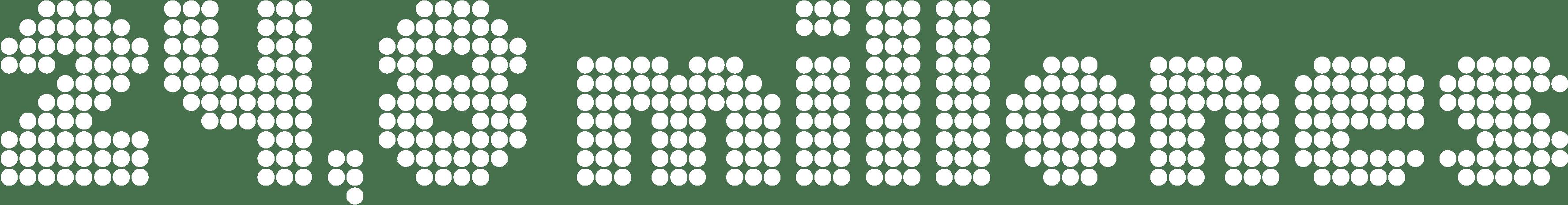 Número 24,8 millones escrito con puntos