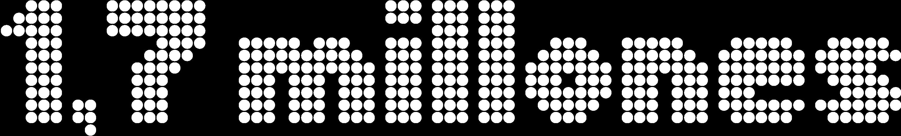 Número 10521 formado por puntos